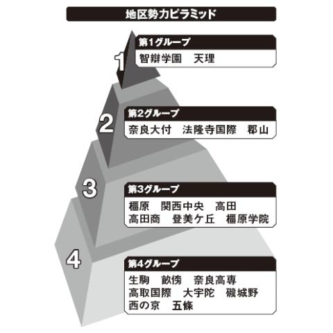 奈良地区勢力ピラミッド