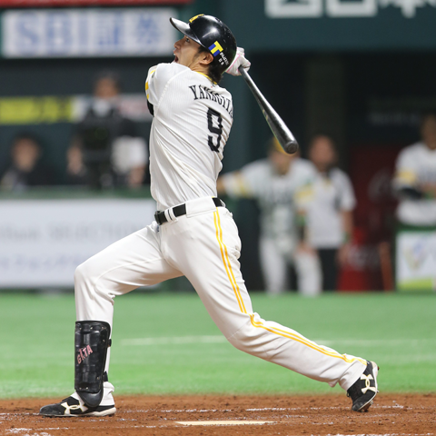2015年から背番号9をつけている柳田悠岐(ソフトバンク)