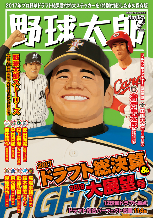 野球太郎No.025 2017ドラフト総決算&2018大展望号 表紙